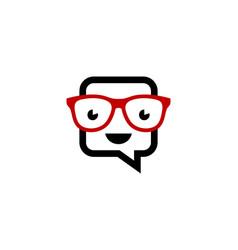 geek chat logo icon design vector image