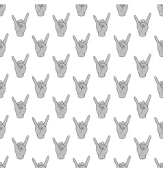 Gesture rock musician seamless pattern vector