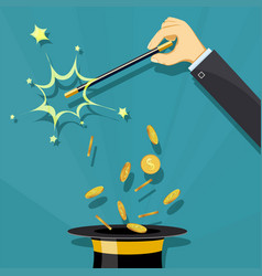 Gold coins and finance vector