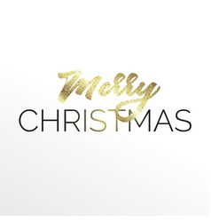 gold lettering merry christmas vector image