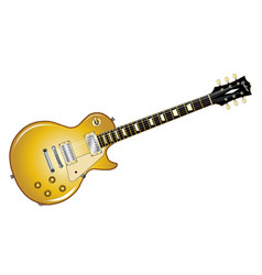 gold top guitar vector image
