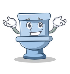 Grinning toilet character cartoon style vector