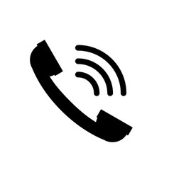 handset symbol black phone icon vector image