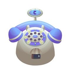 icon telphone vector image