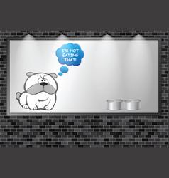 Illuminated advertising billboard dog food advert vector