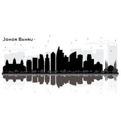 Johor bahru malaysia city skyline silhouette vector