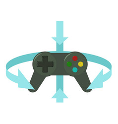 Joystick icon cartoon style vector