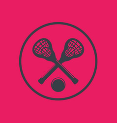 lacrosse icon in circle vector image
