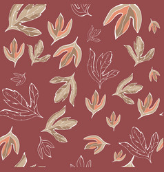 leaves seamless pattern seamless pattern vector image