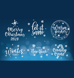 lettering inscription to winter holidays design vector image