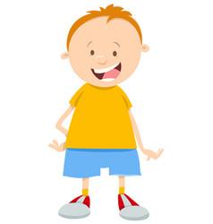 little boy cartoon character vector image