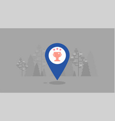 location success victory map navigation vector image