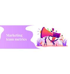 marketing team web banner concept vector image