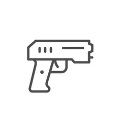 Paintball pistol line outline icon vector