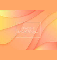 paper cut art abstract color curved waves vector image