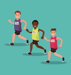 participants international marathon vector image