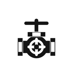 Pipe with a valves icon simple style vector