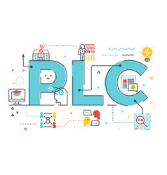 Plc professional learning community vector