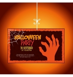 poster halloween party design isolated vector image