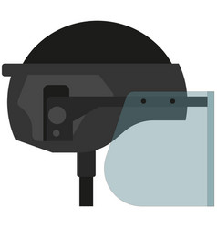 protective bulletpropolice helmet with visor vector image