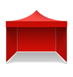 Red folding tent vector image
