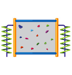 Rock climbing wall on white background vector
