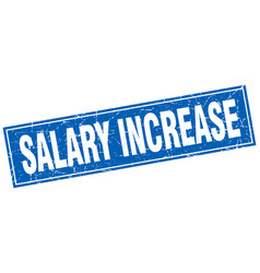 Salary increase square stamp vector