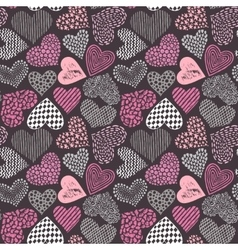 seamless pattern in with hand drawn sketch vector image