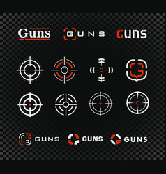 shooting range logo template and icon vector image