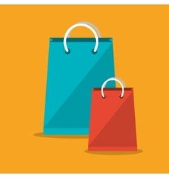 Shopping bag ecommerce and media design vector