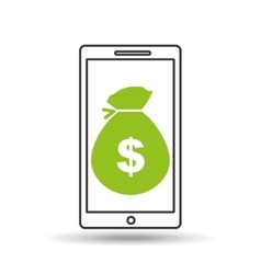 smartphone money concept vector image