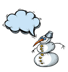 Snowman-100 vector