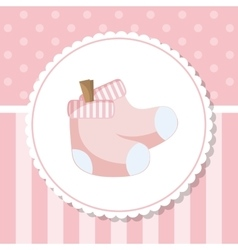 Socks of baby shower card design vector