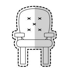 sofa chair icon image vector image