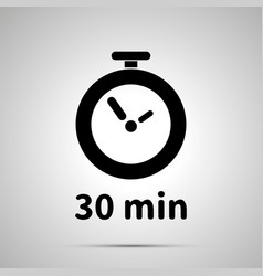 Thirty minutes timer simple black icon vector