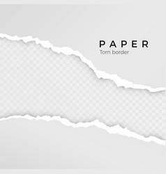 torn paper sheet torn paper edge paper texture vector image