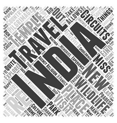 travel circuit of india Word Cloud Concept vector image
