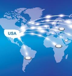 Usa export around the world vector