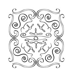 Vintage element and page decoration ornate scroll vector