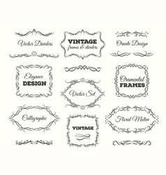 Vintage frame set ornate frames and scroll vector
