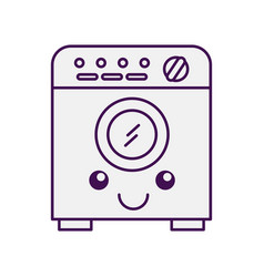 Wash machine kawaii character vector