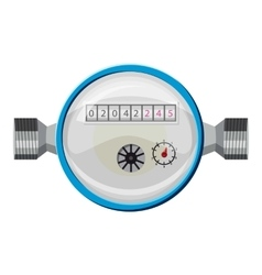 Water meter icon cartoon style vector image
