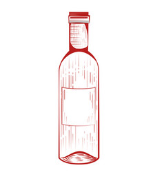 Wine bottle drink vector
