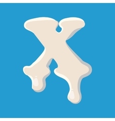 X letter isolated on baby bluebackground vector