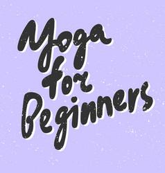 Yoga for beginners sticker for social media vector