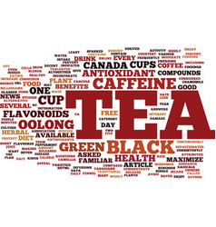 you asked is black tea good for my health text vector image