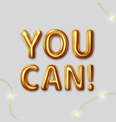 you can do it motivational inscription vector image