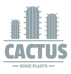 botany cactus logo simple gray style vector image vector image