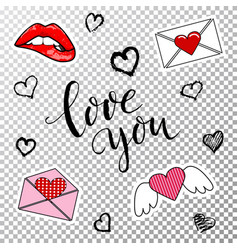 design elements for valentines day vector image