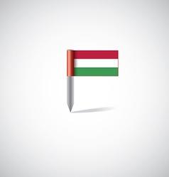 Hungary flag pin vector image